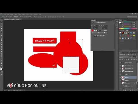 BÀI  7   Photoshop CC 2015   Công cụ Rectangle Tool vẽ các hình thể trong Photoshop   Bài 7