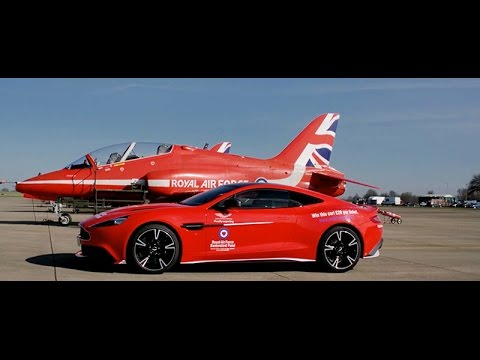 Aston Martin Vanquish S Red Arrows car supporting the RAF Benevolent Fund