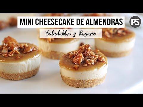 CHEESECAKES DE ALMENDRAS SIN HORNO | SALUDABLES Y RICOS (VEG)