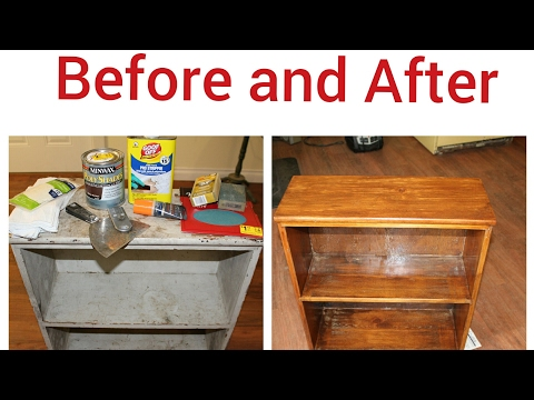 How to Restore a Antique Bookcase.
