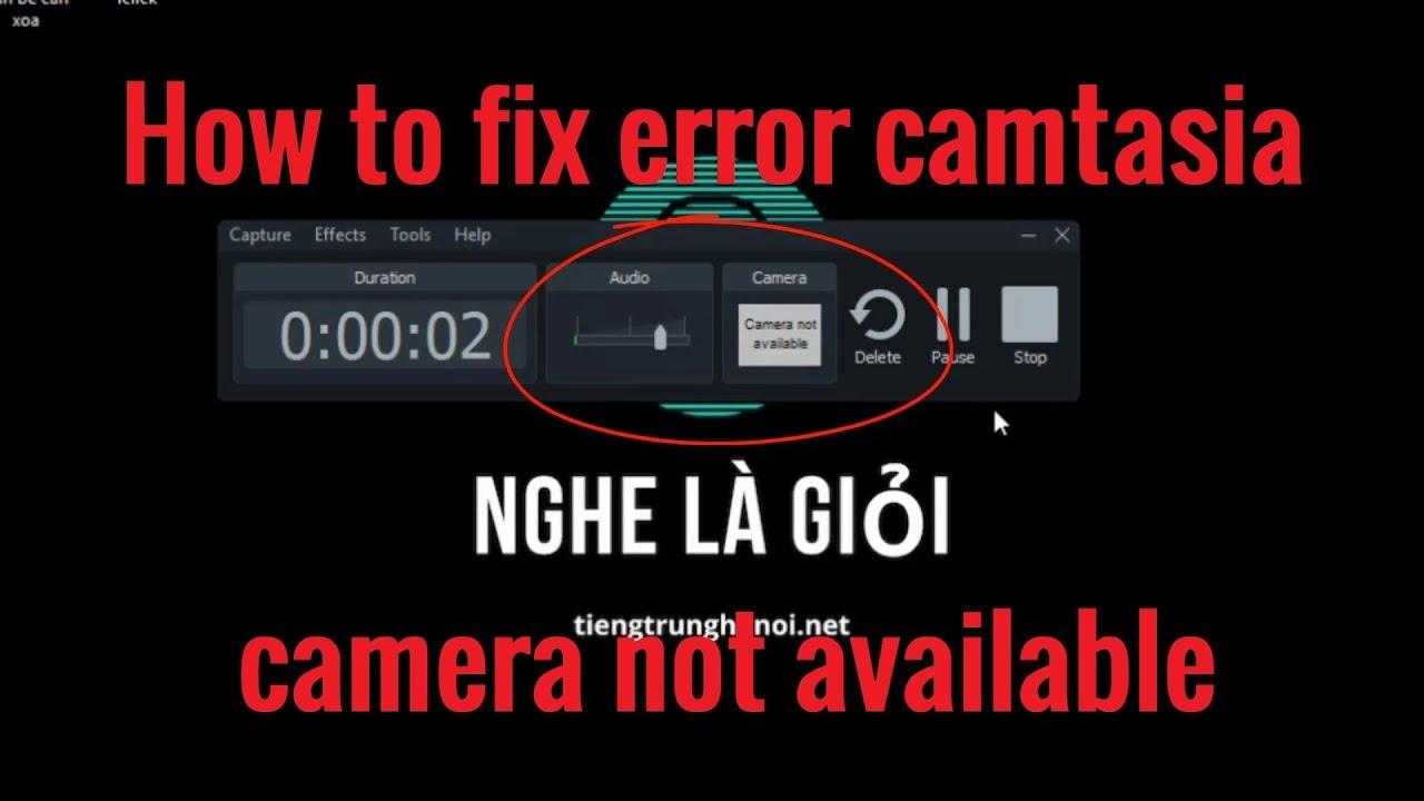 Camtasia 9 recognizes laptop camera, but says