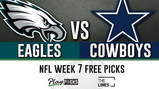 Sunday Night Football NFL Week 7 - Eagles vs Cowboys | SNF Free Picks & Betting Odds