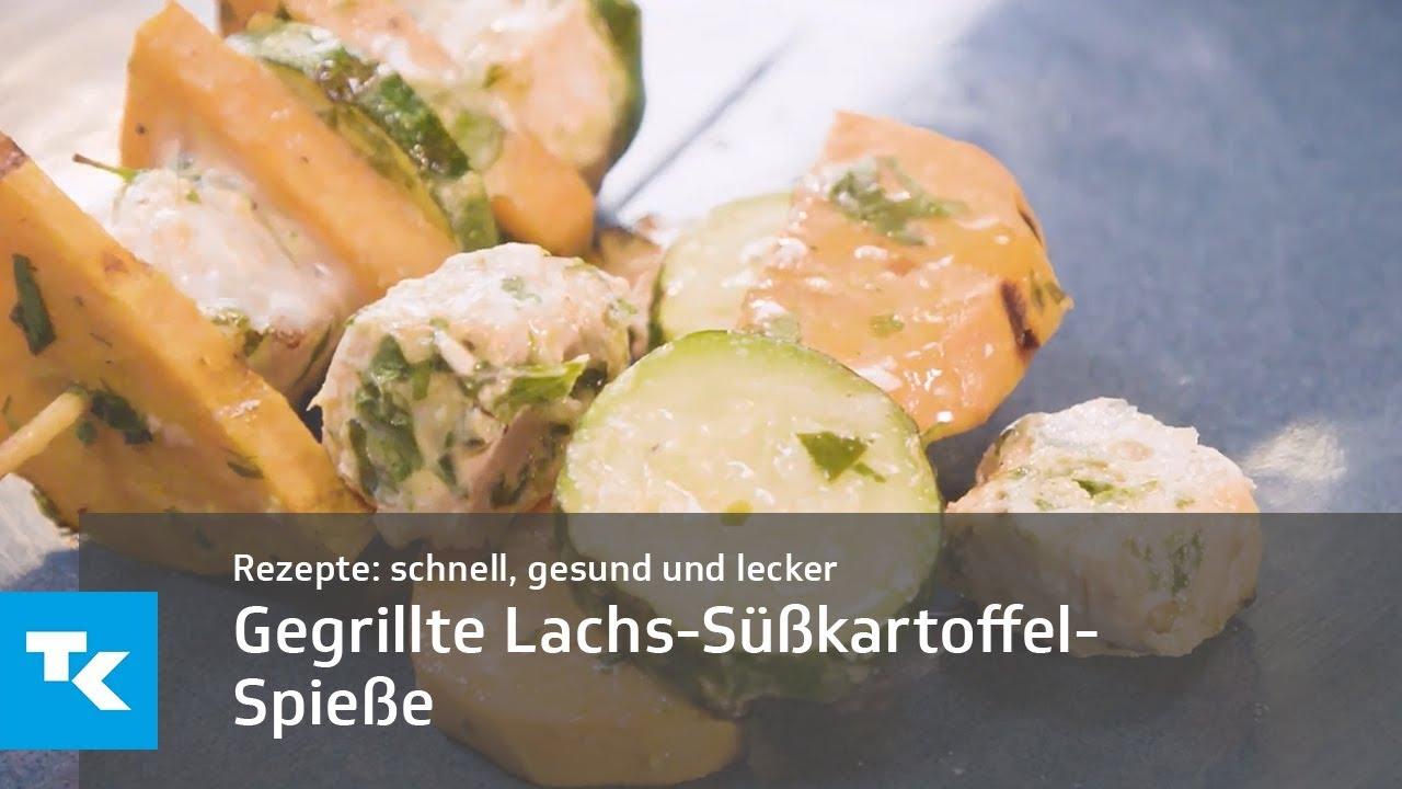Grill Special Gegrillte Lachs Süßkartoffel Spieße Youtube