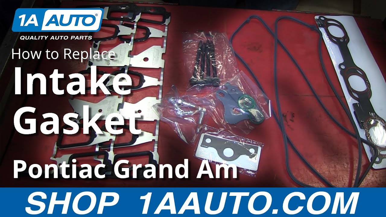 How to Replace Intake Manifold Gasket 9903 Pontiac Grand Am [PART 1]  YouTube