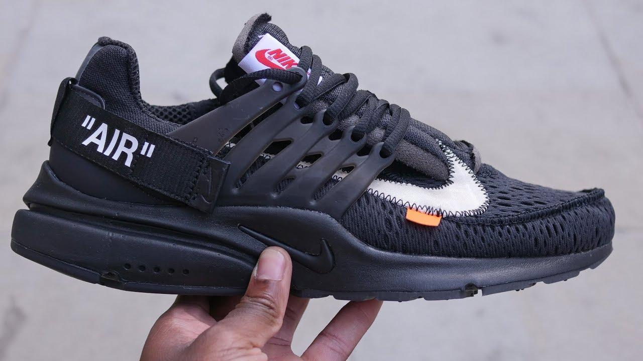 e8ab4efd Off White The Ten: Nike Air Presto Quick Look & On Feet (Black/White ...