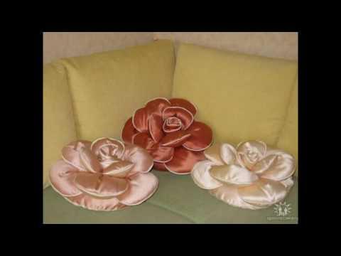 Мастер класс для подушки роза своими руками 382