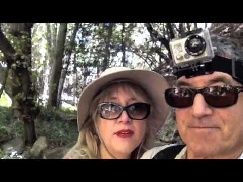 Selfie video of Chandry Flats to Eaton Canyon Falls day  hike near Pasadena, CA