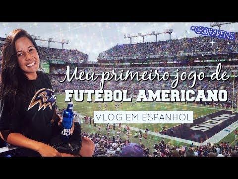 MEU PRIMEIRO JOGO DE FUTEBOL AMERICANO - Vlog Go Ravens