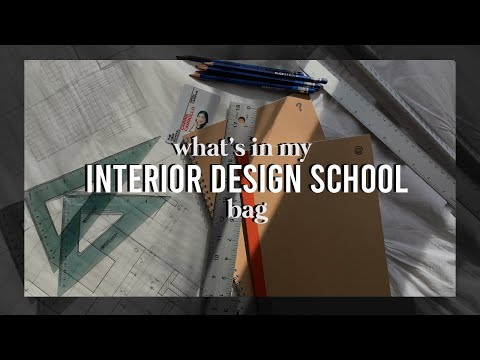 What's In My (interior Design/art School) Bag? // Fall 2019
