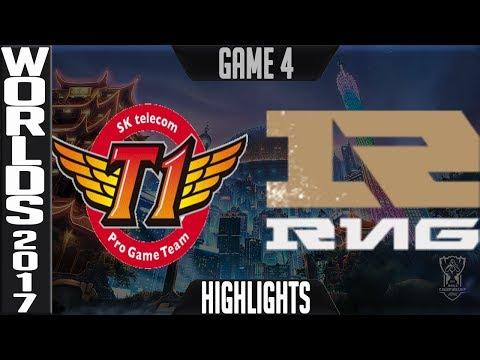 SKT vs RNG Highlights Game 4 - Semifinal World Championship 2017 SK Telecom T1 vs Royal G4