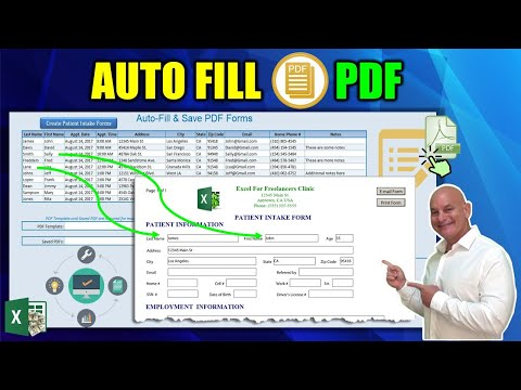 How to AUTOMATICALLY  fill PDF forms using Microsoft Excel in 1 CLICK