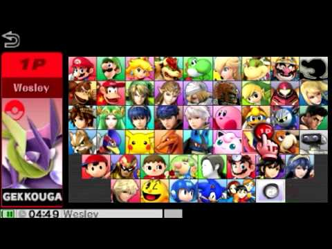 Super Smash Bros 4 All Characters And Alternate Costumes / Colors (3DS/WII U)