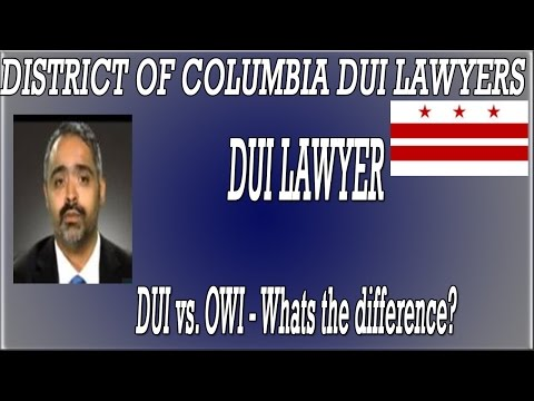 DWI/DUI/OWI in the District of Columbia
