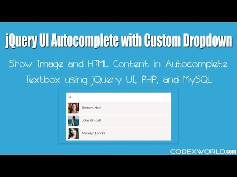 jQuery UI Autocomplete with Images and Custom HTML in PHP
