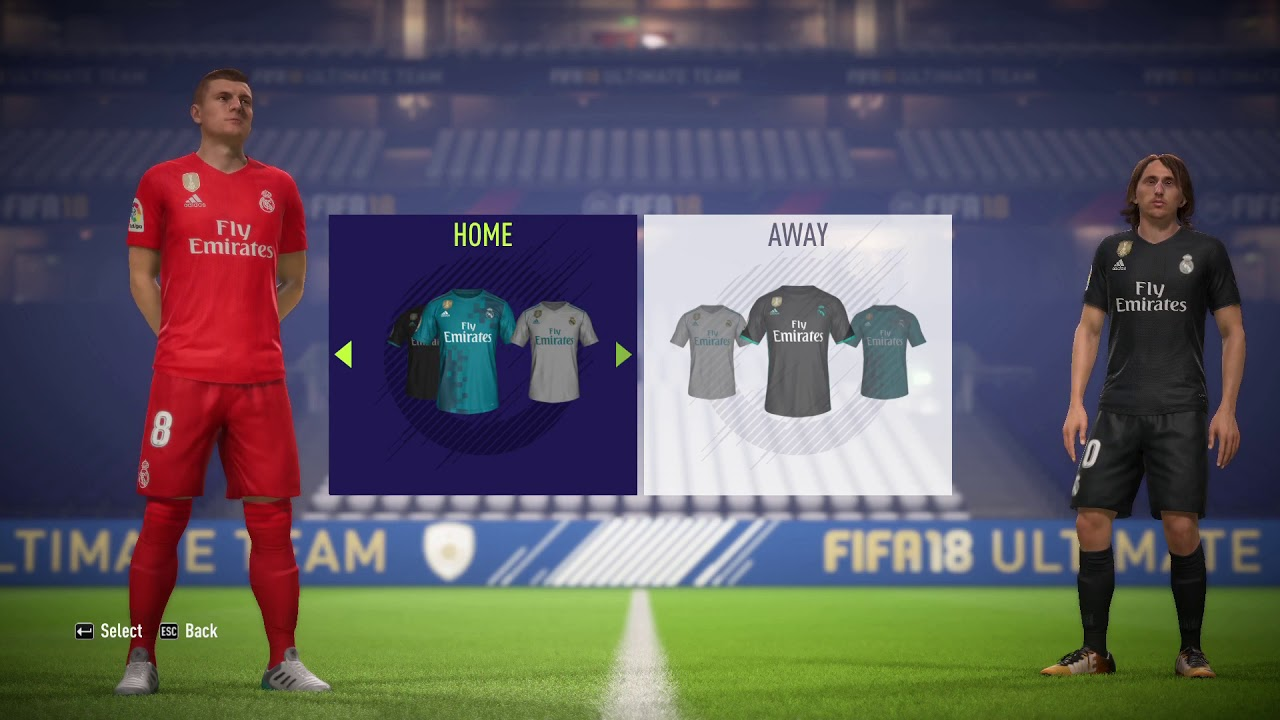 buy popular e3956 141bd FIFA 18 | ALL KITS REAL MADRID 2019 HOME | AWAY | 3RD | GK