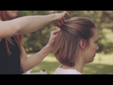 Wedding Hairstyles for Short Hair: How to Make an Updo - YouTube