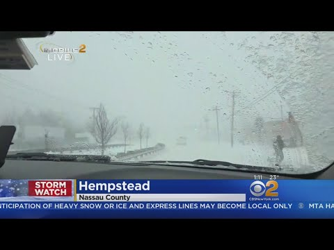 Checking On Road Conditions In Hempstead