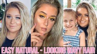 EASY Natural Looking Wavy Hair Tutorial | Quick Wavy Hair Tutorial