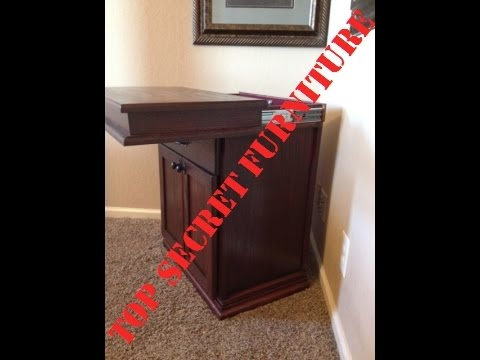 Nightstand With Secret Hidden Compartment By Top Secret