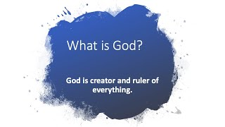 30/30 Challenge - Families, Question 1: What is God?