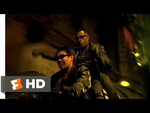 Blade 2 13 Movie   Motorcycle Fight 2002 HD