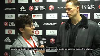 "Olimpia Milano - Baskonia,Roll: ""Too many turnovers in the beginning, then we take care of the ball"""
