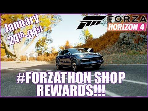 Forza Horizon 4 #FORZATHON Shop Rewards January 24th - 31st thumbnail