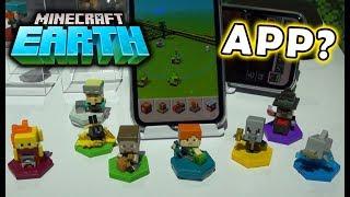 Minecraft EARTH Mini Figures Video Game app MATTEL Hands on Demo screenshot 4