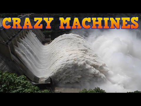 Crazy MACHINES № 22 Emergency discharge of water from the hydroelectric power plant, dam