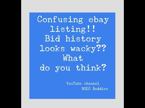 Confusing Ebay Listing Bid History Looks Wacky What Do You Think Of This Disney Cars Auction Youtube