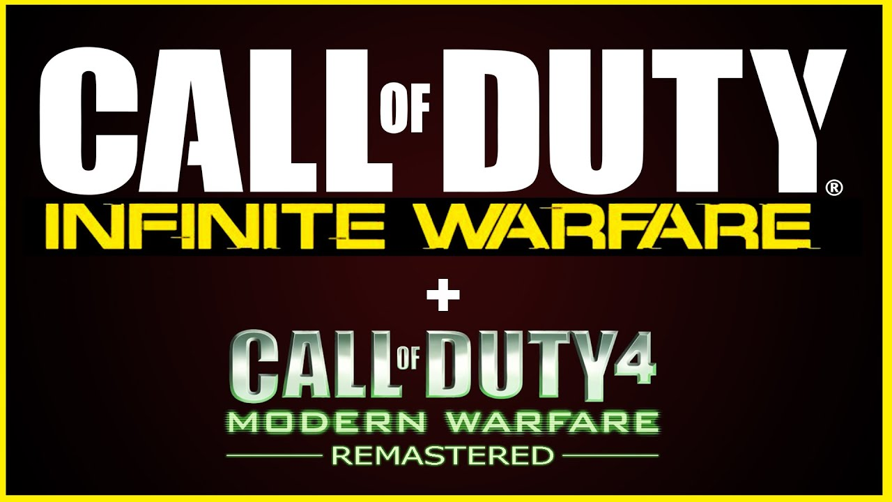 Call of Duty: Infinite Warfare and Call of Duty: Modern Warfare Remastered