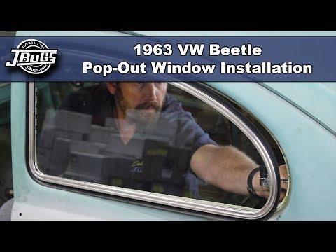 JBugs - 1963 VW Beetle - Pop-Out Window Installation