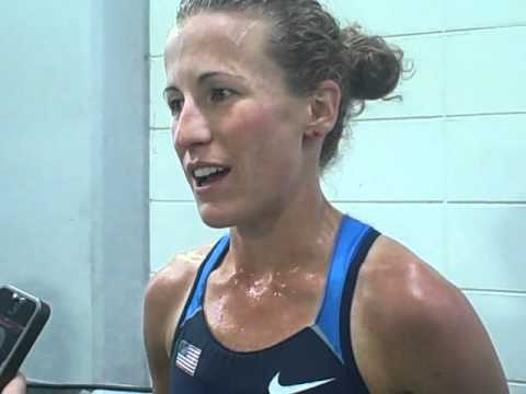 Amy Hastings After 2011 Worlds 5000m Final in Daegu