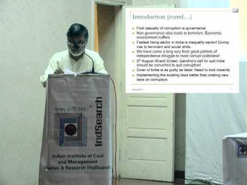 Socio biological basis of corruption  Public lecture by Dr  Anil Rajvanshi 2