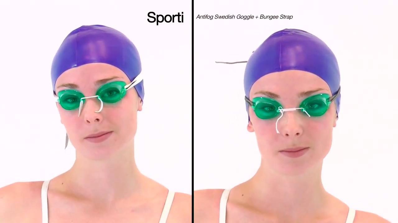 0cfd83c2c5f6 Sporti Antifog Swedish Goggle + Bungee Strap