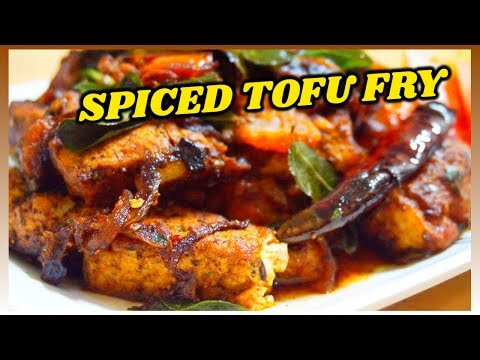 SPICED TOFU FRY | TANDOORI TOFU | VEGETARIAN | tofu stir fry | curried tofu