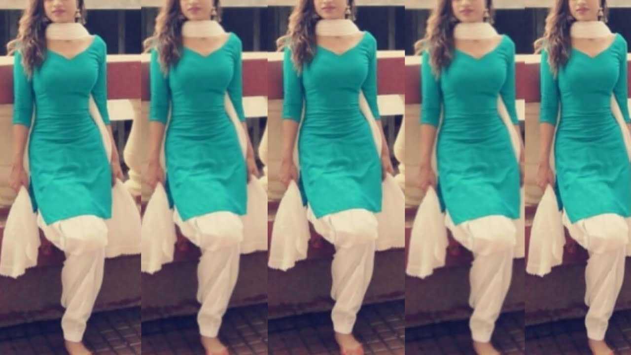 Simple Punjabi suit colour combination for college girls/ college wear  dress/ punjabi suits/suits