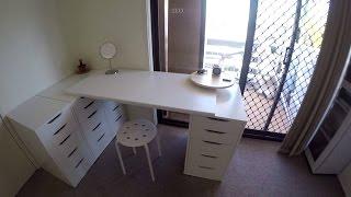 DIY Home Improvements. Small Bedroom Organisation / Makeup Vanity. Ikea Alex drawers