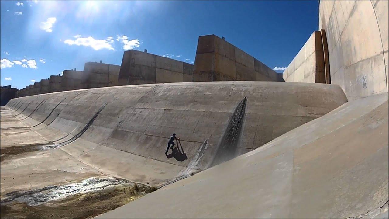 Climbing ute lake dam youtube for Ute lake fishing report