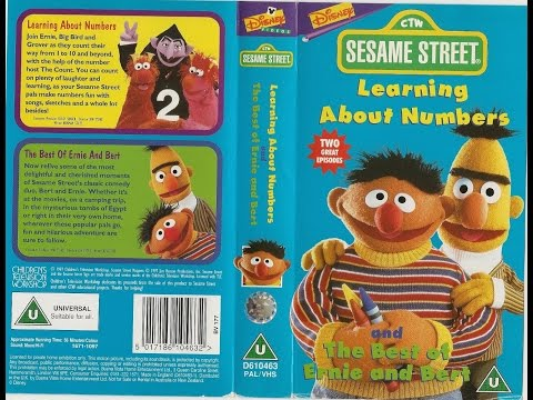Sesame Street - Learning About Numbers and The Best of Ernie and Bert (1997, UK VHS)