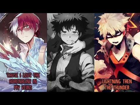 「Nightcore」→ Believer ✗ Thunder ✗ Whatever It Takes Switching Vocals   Imagine Dragons MASHUP