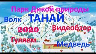 Танай горнолыжный комплекс 2020, парк дикой природы, новогодние каникулы, видеообзор Лена&Вика