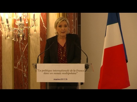 """Marine Le Pen praises Brexit, Trump's election, and """"the rise of a Europe against the Union"""""""