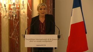 Marine Le Pen praises Brexit, Trump's election, and