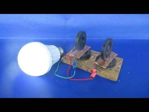 How to make free energy generator 100% with magnets - Experiment DIY in hindi