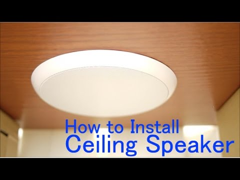 Claret Audio Ceiling speaker installation How to Install