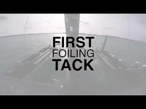 SoftBank Team Japan: First Foiling Tack