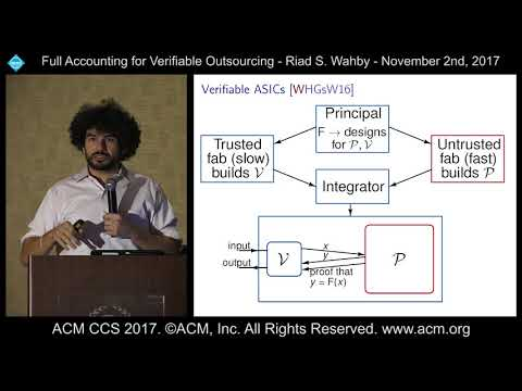 ACM CCS 2017 - Full Accounting for Verifiable Outsourcing - Riad Wahby