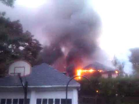 Marblehead, MA house fire on Auburndale rd.