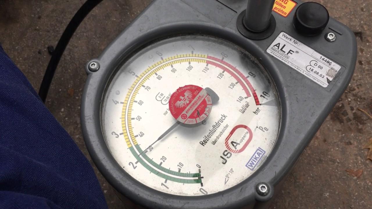 Tankstelle Luftdruck